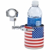 Diamond Plate™ Stainless Steel USA Flag Motorcycle Cup Holder