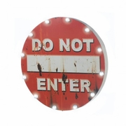 DO NOT ENTER Light Up Sign Wall Hanging