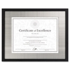 Document Frame Contemporary Black Wood  11 x 14