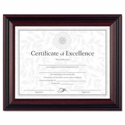 Document Frame Plastic, Desk Wall Two-Tone Rosewood Black