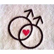 Double Symbol Male Hand Towel