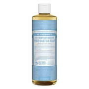 Dr. Bronner's Magic Soaps 18-in-1 Hemp Baby Pure Castile Soaps Baby-Mild, Unscented 16 fl. oz.
