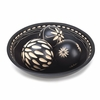Ebony Decorative Carved Balls and Bowl Set