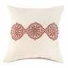 "Ecru and Spice Throw Pillow   18""sq"