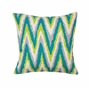 "Electric Chevron Throw Pillow 17""sq."