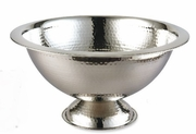 "Elegance Hammered Stainless Steel Punch Bowl 15""  3 Gal."