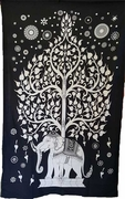 "Tapestry Elephant Tree  54"" x 86"""