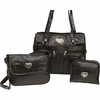 Embassy™ 3pc Genuine Leather Patchwork Design  Purse Set