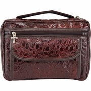 Embassy  Alligator Embossed  Burgundy Leather Bible Cover
