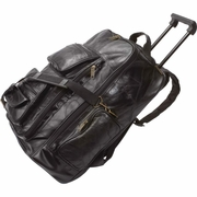 Embassy� Backpack Cart Italian Stone� Design Genuine Leather 19""