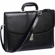 Embassy™ Expandable Attaché Case with Shoulder Strap