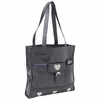 Embassy™ Italian Stone™ Design Genuine Lambskin Leather Shopping Bag