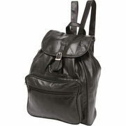 Embassy™ Patchwork  Genuine Lambskin Leather Backpack