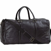 Embassy  Pebble Grain Leather Duffle Bag 21""