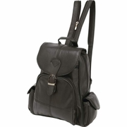 Embassy™ Solid Genuine Lambskin Leather Backpack