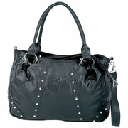 Embassy™ Studded Italian Stone™ Design Genuine Lambskin Leather Purse