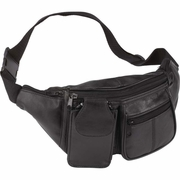 Embassy Waist Bag   Lambskin Leather 6 Pocket  Fanny Pack