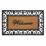 Entry Mat Fleur-De-Lis Frame Rubber and Coir