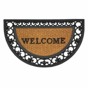 Entry Mat Regal Half Moon Rubber and Coir Welcome Mat