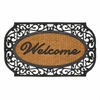 Entry Mat Welcome Frill Frame Rubber and Coir