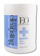 EO Organic Sanitizing Wipes Lavender 210ct Canister