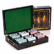 Executive Playing Card Set with 200 Chips in Wood Box