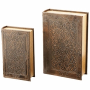 Faux Book Safe Set 2pc