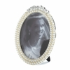 Faux Pearl Strands Around Oval Photo Frame 5 x 7