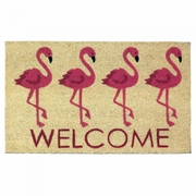 Welcome Mat  / Doormat Flamingos