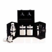 Flask and Cocktail Shaker Set 10pc