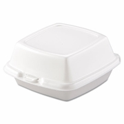Dart Carryout Food Containers, Foam, 1-Comp, 5 7/8 x 6 x 3,