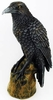 Forward Looking Raven Statue  6-1/2""