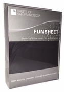Funsheet Plus Rubber Feel Pillow Case  King  Black