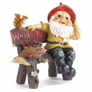 Garden Gnome Welcome Sign