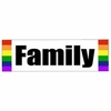 Gay Pride Bumper Sticker  Family