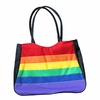 Gay Pride Rainbow Polyester Zippered  Tote Bag