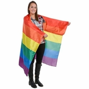 "Gay Pride Rainbow Flaw Cape  40"" x 60"""