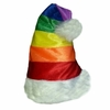 Gay Pride Rainbow Santa Cap