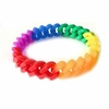 Gay Pride Rainbow  Silicone Link Thin Bracelet