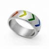 Gay Pride Rainbow Victory Ring