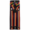 Gay Pride Suspender and Bow Tie Set