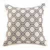 "Geometric Throw Pillow  18"" sq."
