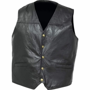 Giovanni Navarre® Italian Stone™ Design Genuine Leather Concealed Carry Vest