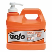 Gojo Natural Orange Hand Cleaner With Pumice 1/2gal bottles 4/case
