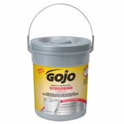 GOJO Scrubbing Towels, Hand Cleaning, Fresh Citrus,  72ct Canister,6/Case