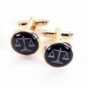 Gold Plated Cufflinks with Scales Design.
