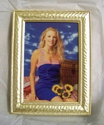 Goldplated Hammered Finish Picture Frame 3-1/2 x 5