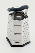 "Grater, 6-Sided Stainless Steel  9""h."