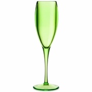 Acrylic Champagne Glass Green   6pc.