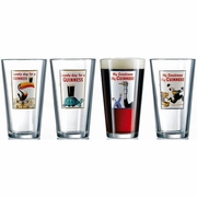 Guinness Assorted Vintage Ad 16 oz Pub Glasses  Set of 4